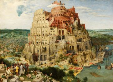 The Tower of Babel as envisioned by Pieter Bruegel the Elder.  What a fabulous rendering.